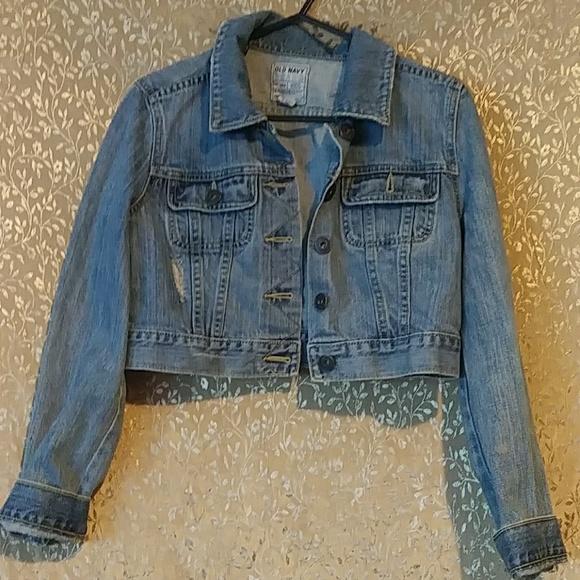 Old Navy Jackets & Blazers - Jean crop jacket